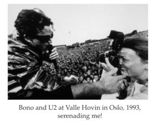 Nina Rangoy and Bono