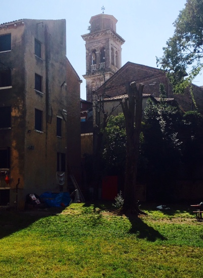 San Trovaso bell tower from Ca Bembo