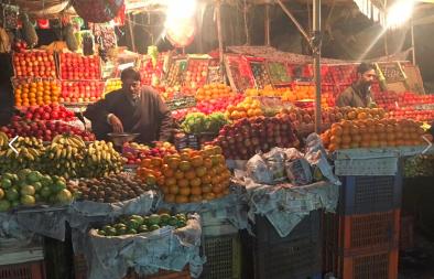 Una bancarella di frutta a Jaipur