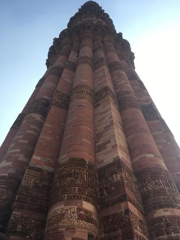 L'obelisco del complesso di Qutb a Nuova Delhi