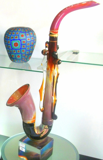 Glass Saxophone Murano Glass Venice
