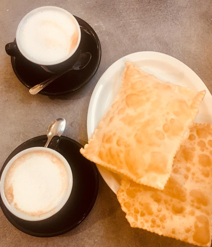 Cappuccino e gnocco fritto Modena