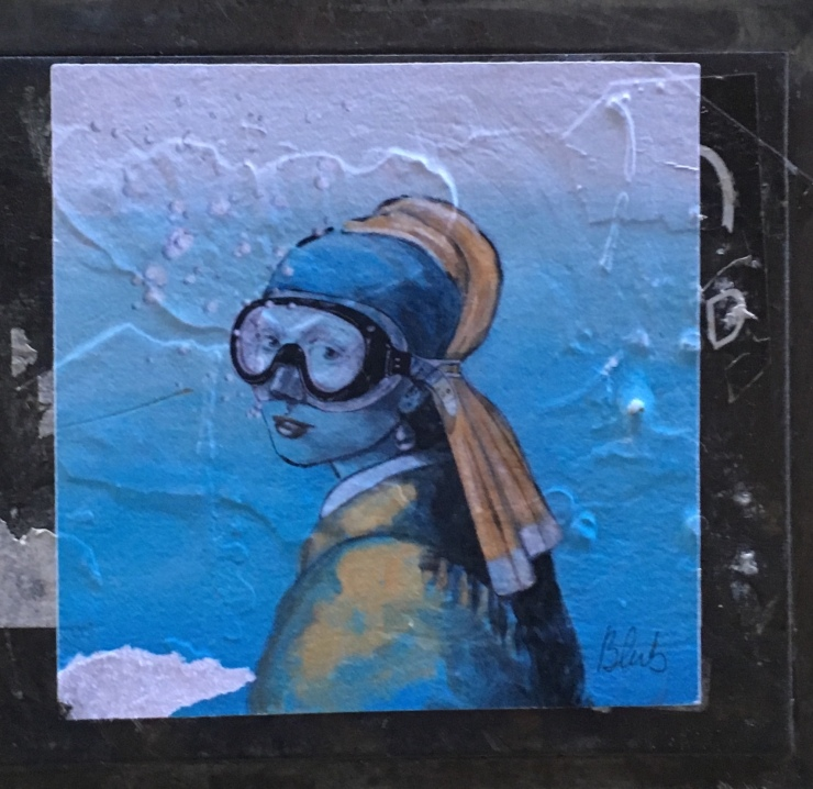 Girl with a pearl earring streetart venice