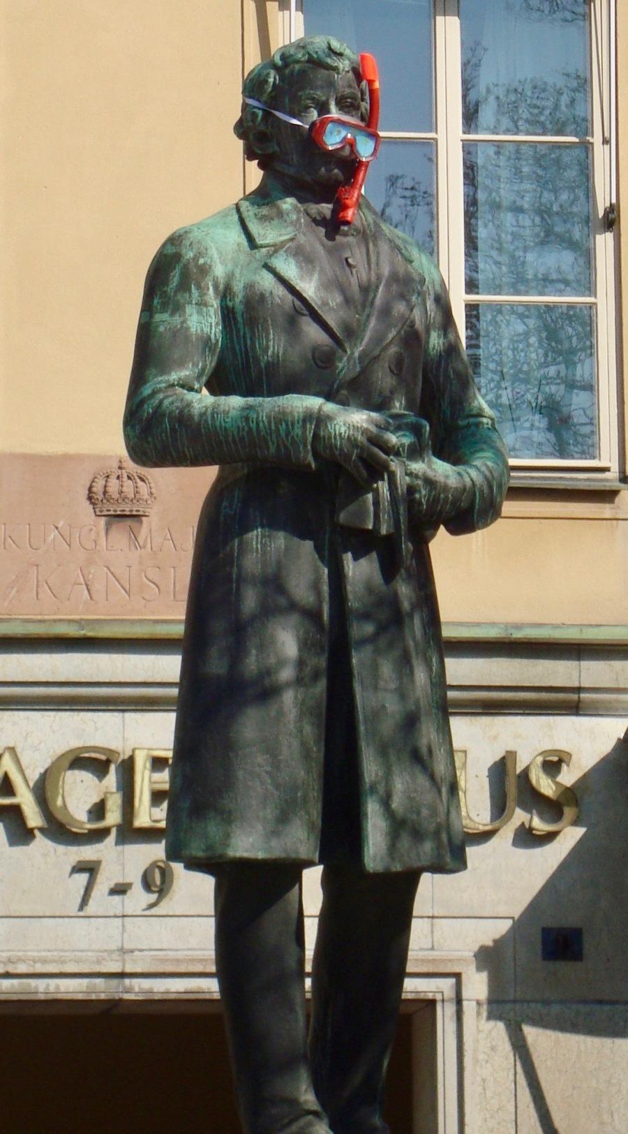 Stockholm mask statue